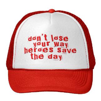 Los héroes ahorran el día gorro de camionero