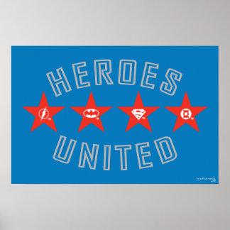 Los héroes de la liga de justicia desataron logoti póster
