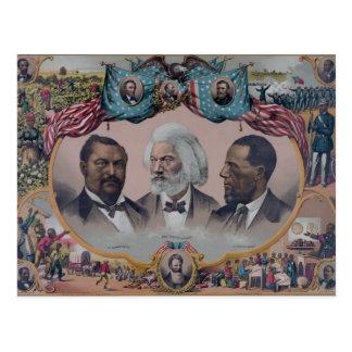 Los héroes de la raza coloreada tarjetas postales