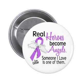 Los héroes hacen cáncer de los ángeles pin