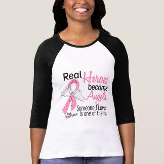 Los héroes hacen cáncer de pecho de los ángeles camisetas