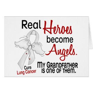 Los héroes hacen cáncer de pulmón de abuelo de los tarjeta de felicitación
