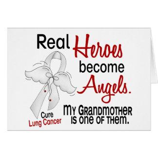 Los héroes hacen cáncer de pulmón de la abuela de  tarjeta de felicitación