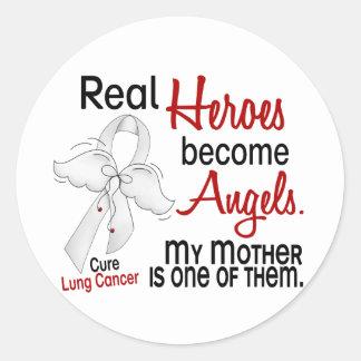 Los héroes hacen cáncer de pulmón de la madre de l etiquetas