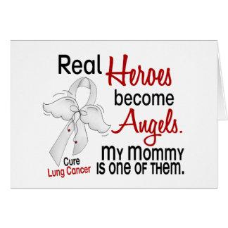 Los héroes hacen cáncer de pulmón de la mamá de lo tarjeta de felicitación
