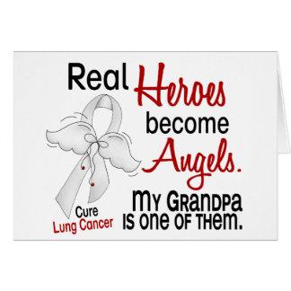 Los héroes hacen cáncer de pulmón del abuelo de lo tarjeta de felicitación