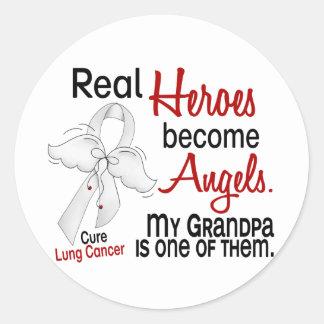 Los héroes hacen cáncer de pulmón del abuelo de pegatina redonda