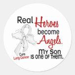Los héroes hacen cáncer de pulmón del hijo de los  etiqueta