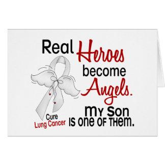 Los héroes hacen cáncer de pulmón del hijo de los  tarjeta de felicitación