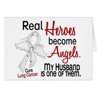 Los héroes hacen cáncer de pulmón del marido de lo tarjeta de felicitación