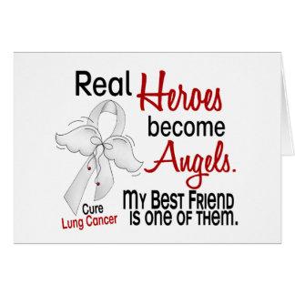 Los héroes hacen cáncer de pulmón del mejor amigo  tarjeta de felicitación