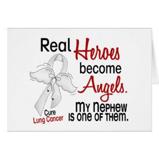 Los héroes hacen cáncer de pulmón del sobrino de l tarjeta de felicitación