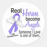 Los héroes hacen cáncer del esófago de los ángeles pegatina