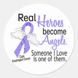 Los héroes hacen cáncer del esófago de los ángeles pegatina redonda