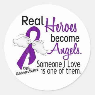 Los héroes hacen enfermedad de Alzheimer de los Pegatina Redonda