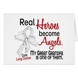Los héroes hacen gran cáncer de pulmón del abuelo  tarjeta de felicitación