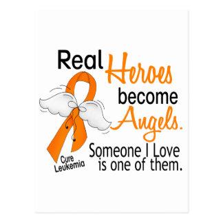Los héroes hacen leucemia de los ángeles postales