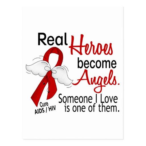 Los héroes hacen SIDA de los ángeles Tarjetas Postales
