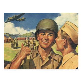 Los héroes patrióticos del vintage personal milit postales