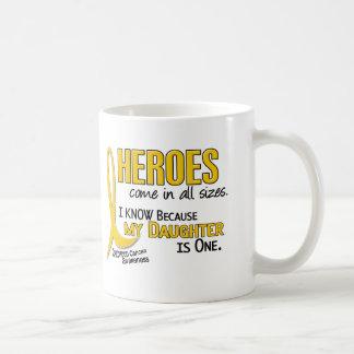 Los héroes todos del cáncer de la niñez clasifican taza de café