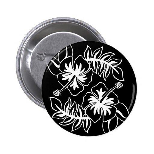 Los hibiscos diseñan original pin redondo 5 cm