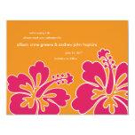 Los hibiscos dulces ahorran la tarjeta de la invitaciones personalizada