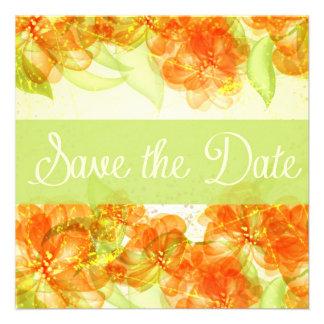 Los hibiscos elegantes ahorran la fecha Announemen Anuncio Personalizado