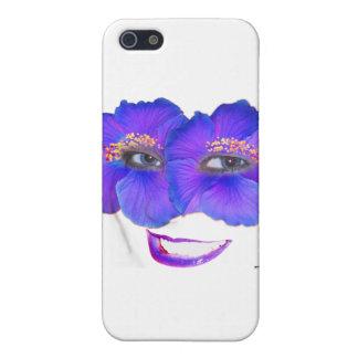 Los hibiscos hacen frente con la sonrisa - azul iPhone 5 fundas