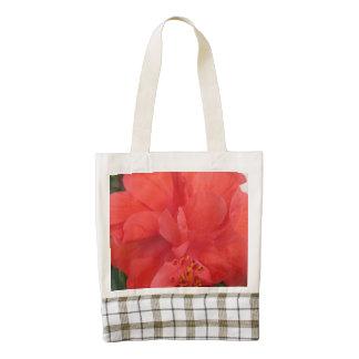 Los hibiscos plantan floral rojo bolsa tote zazzle HEART