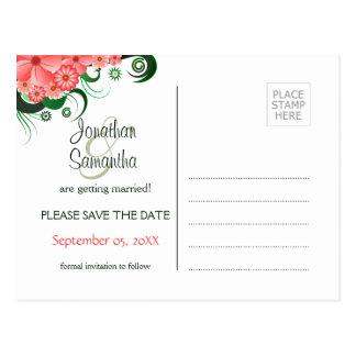 Los hibiscos rosados florales ahorran las postales