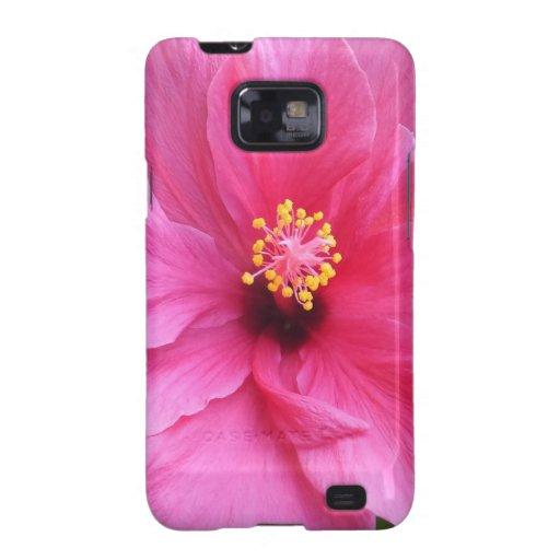 Los hibiscos rosados Samsung encajonan, Funda Galaxy S2