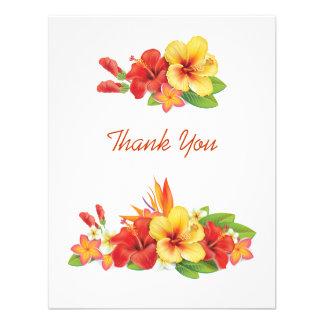 Los hibiscos tropicales le agradecen cardar comunicados personalizados