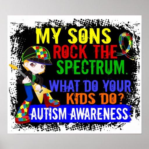 Los hijos oscilan el autismo del espectro poster