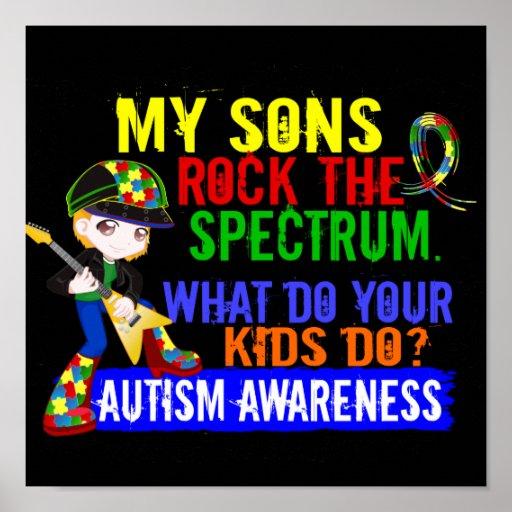 Los hijos oscilan el autismo del espectro impresiones