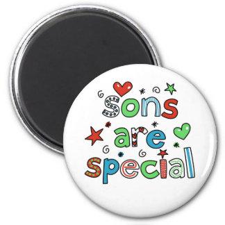 Los hijos son especiales imán redondo 5 cm