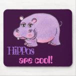 Los hipopótamos son frescos - cojín de ratón tapetes de ratón