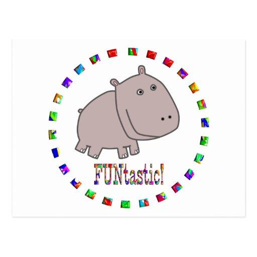 Los hipopótamos son Funtastic Tarjetas Postales