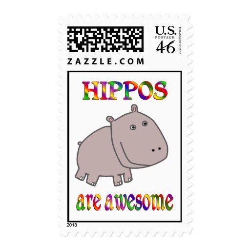 Los hipopótamos son impresionantes franqueo