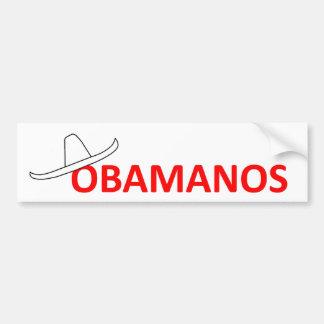 ¡Los hispanico de Obama del adiós dicen van a casa Etiqueta De Parachoque