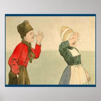 Los holandeses del vintage diseñan, 1905 que se fa póster