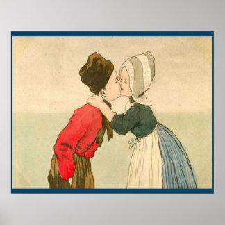 Los holandeses del vintage diseñan, el chica 1905  póster