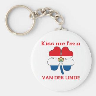 Los holandeses personalizados me besan que soy Van Llavero Redondo Tipo Pin
