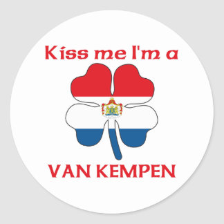 Los holandeses personalizados me besan que soy Van Pegatina Redonda