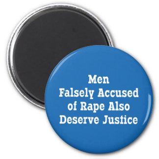 Los hombres acusados falso de la violación también imán redondo 5 cm