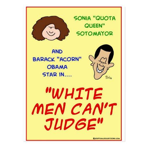 Los hombres blancos del sotomayor de Obama saltan Tarjeta Postal