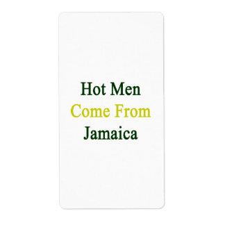 Los hombres calientes vienen de Jamaica Etiqueta De Envío