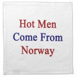 Los hombres calientes vienen de Noruega Servilleta