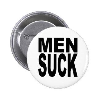 Los hombres chupan pin redondo 5 cm