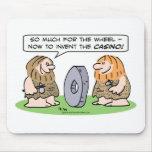 Los hombres de las cavernas inventan la rueda, ent tapetes de ratón