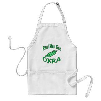 Los hombres de Reael comen el Okra Delantal